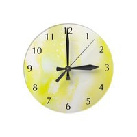 Oxygen, yellow - Wall Clock from Zazzle.com