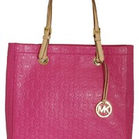 Michael Kors Leather Jet Set Item Tote, Embossed Zinnia Pink