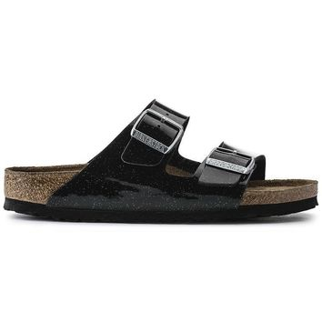 Birkenstock Arizona Soft Footbed Birko Flor Magic Galaxy Black 57633 Sandals - Ready S