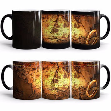 Free shipping- Lord of the Rings mug color changing magic mugs cup Tea coffee mug cup for friend children gift