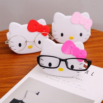 1 Pcs New Multi-functional Cute Hello Kitty Glasses Holder Cartoon Organizer Cat Soap Box Soap Dish Office Desk Storage Box
