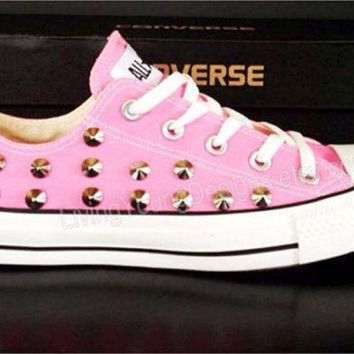 DCCKHD9 STUDDED CONVERSE SALE Pink Studded Converse Shoes Sale Custom Shoes All Star Chuck