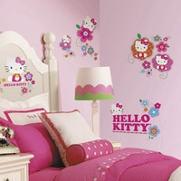 Hello Kitty Flower Peel & Stick Wall Decal (Pink)