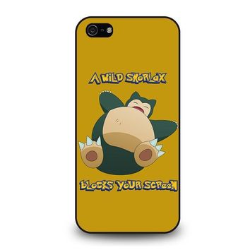 snorlax pokemon iphone 5 5s se case cover  number 1