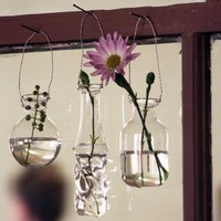 hanging bud vases \ set