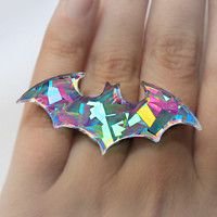 Hologram Bat Ring