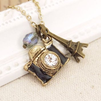 Picture Paris. a charm necklace by trinketsforkeeps on Etsy
