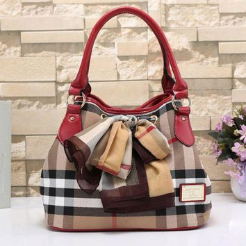 Burberry Women Fashion Trending Shopping Leather Shoulder Bag Satchel Crossbody Red G