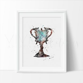 Triwizard Cup, Harry Potter Watercolor Art Print