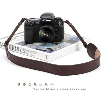 Brown Leather Straps Sony Handmade Leather Camera Strap 2261