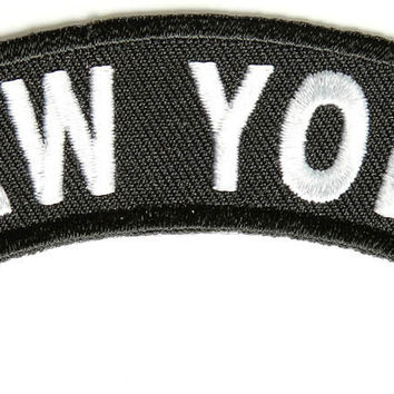 New York Rocker Patch Small Embroidered Motorcycle NEW Biker Vest Patch