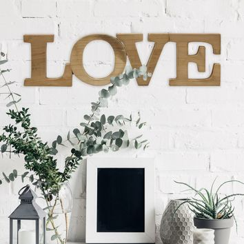 Self-Standing Wooden Love Sign
