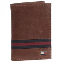 Tommy Hilfiger Saddle Tan Leather Trifold Wallet