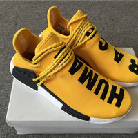 "Adidas x Pharrell Williams NMD ""Yellow Human Race"""