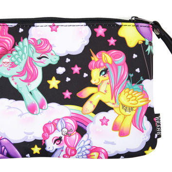 Liquorbrand Rockabilly Lolita Rainbows & Unicorns Pony Clutch Bag