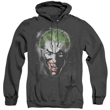 Batman Heather Hoodie Joker Face Makeup Black Hoody