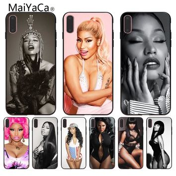 MaiYaCa Queen Nicki Minaj Painted cover Style Design Cell Phone Case For iPhone 6S 6plus 7 7plus 8 8Plus X 5 5S