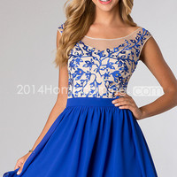 US $129.99 2014 A-Line Bateau Sleeveless Empire Backless Homecoming Dresses