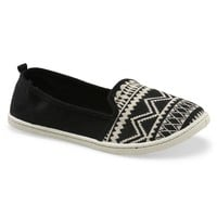 Aeropostale Womens Southwestern Canvas Slip-On Shoes - Black, 6
