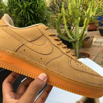 NIKE Air Force 1 Mid Women Men Fashion Casual Shoes Sneakers Brown G-MLDWX
