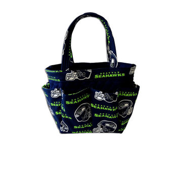 Seattle Seahawks Bingo Bag // Craft Organizer // Makeup Organizer // Caddy // Teacher Tote // Nurse Tote