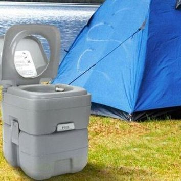 20L Portable Toilet Flush Travel Camping Outdoor/Indoor Potty Commode Removable