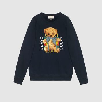 Gucci - Gucci logo sweatshirt with teddy bear