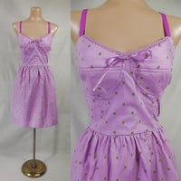 Mossimo Purple Sun Dress with Padded Cups XL NWOT