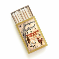 Vintage Book Cover Matchbox - The Bird and Insects' Post Office - Book Matches - Classic Literary Matchbook - Farmhouse Decor - Candle Decor