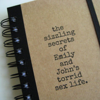 Journal Personalized Sex Life Notebook Handmade by Zany