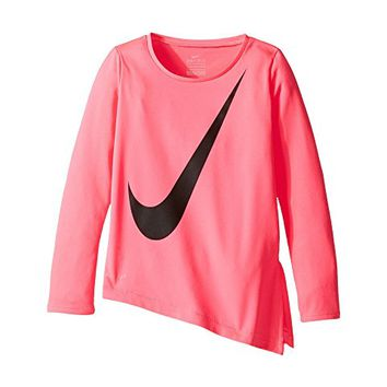 Nike Kids Dri-Fit Long Sleeve Side Slit Top (Toddler)
