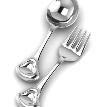 Sterling Silver Sweetheart Spoon & Fork Set