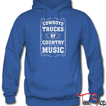 Cowboys, Trucks & Country Music hoodie