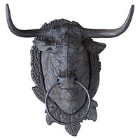 Cast Iron Bull Head Towel Ring