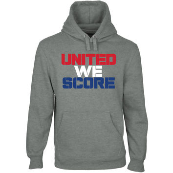 USA United We Score Pullover Hoodie - Gunmetal