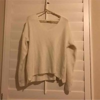 BRANDY MELVILLE super soft white sweater($ 15) - Mercari: Anyone can buy & sell