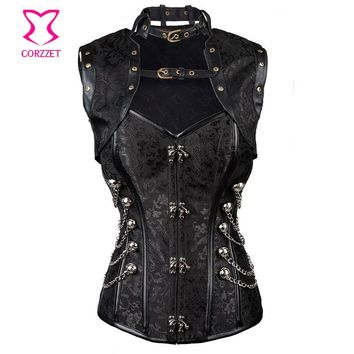 S-6XL Plus Size Corsets and Bustiers Women Gothic Corpetes E Espartilhos Sexy Bustier Jacket Steampunk Corset Burlesque Outfits