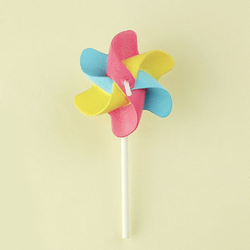 Windmill Shaped Birthday Candle