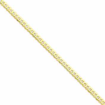 14k Yellow Gold Beveled Curb Chain