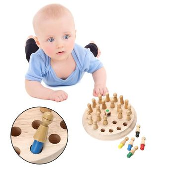 Memory Match Stick Chess Game - Early Educational Wood Toy
