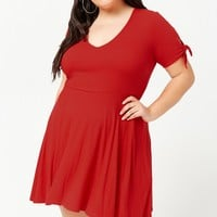 Plus Size Ribbed Skater Dress