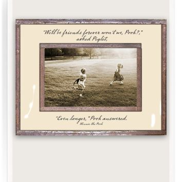 We'll Be Friends Forever Copper & Glass Photo Frame