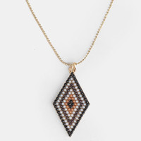 Tribal Triangle Necklace - $13.00 : ThreadSence, Women's Indie & Bohemian Clothing, Dresses, & Accessories