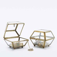 Mini Brass Edge Jewellery Box - Urban Outfitters