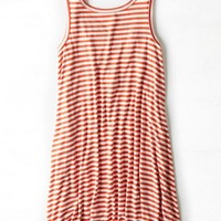 AEO Women's Cross Strap Tank Dress (Red)