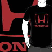 Honda Race Car Logo Black T-shirt