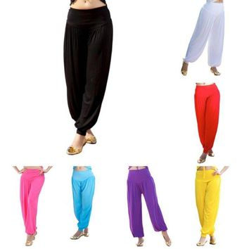 US Women Fashion Yoga Pants Harem Pants Belly Dance Costume Boho Dance Trousers
