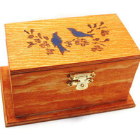Rustic Wedding ring bearer box or wedding by KnottyNotions on Etsy