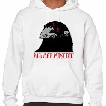 Three-eyed Crow All men must die men hooded sweatshirt