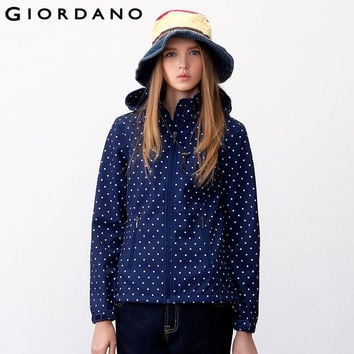 Giordano Women Sport Jacket Detachable Hood Sports Wear for Woman Fleece-Lined Jacket Abrigo Mujer Woman Jacket Manteau Femme